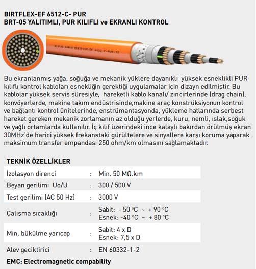 BIRTFLEX-EF 6512-C-PUR Kablo